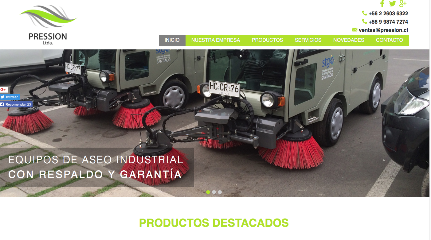 maquinaria de aseo industrial