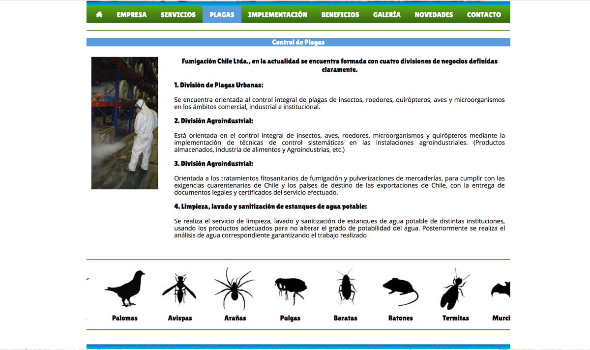 Control de plagas en Chile