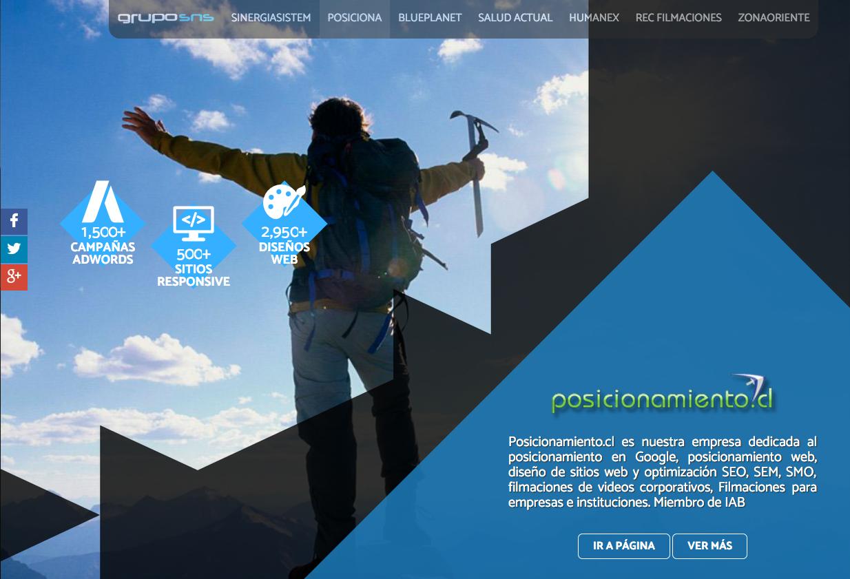 líder en Diseño web en santiago