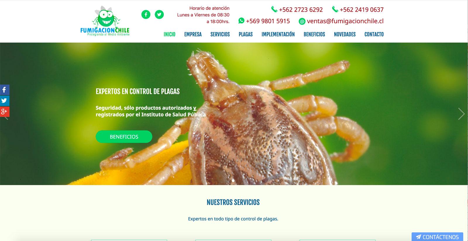 Control de roedores en Chile