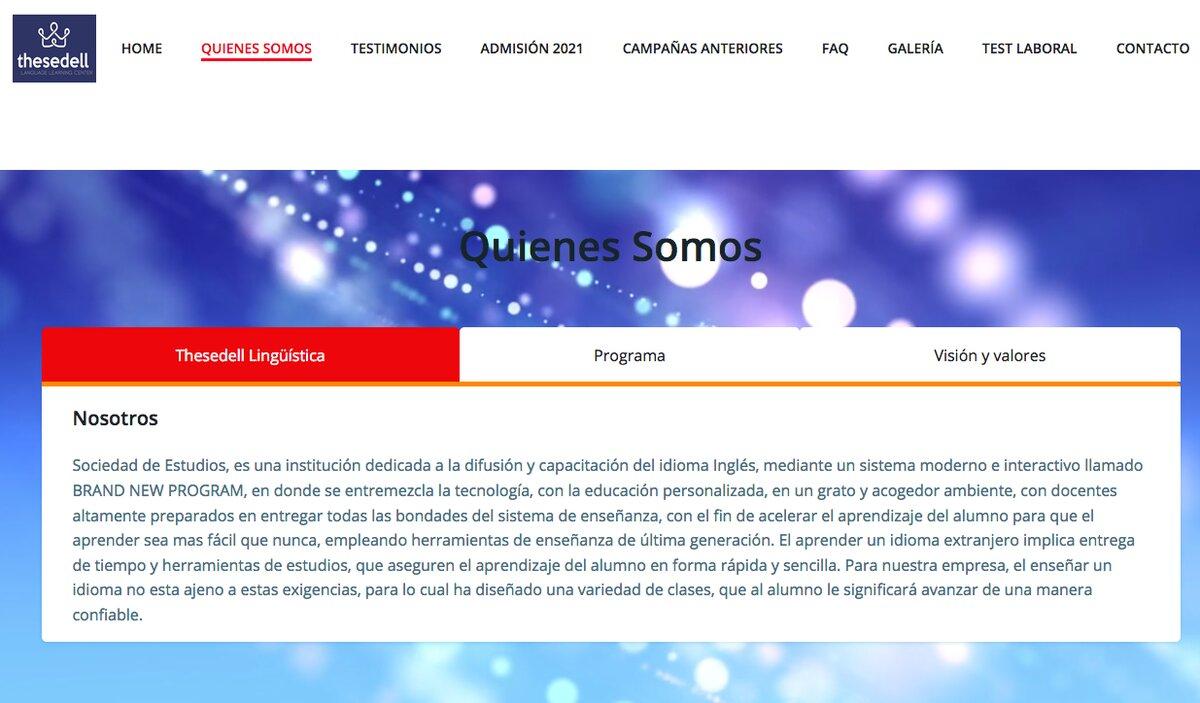 Sedell Institute en chile